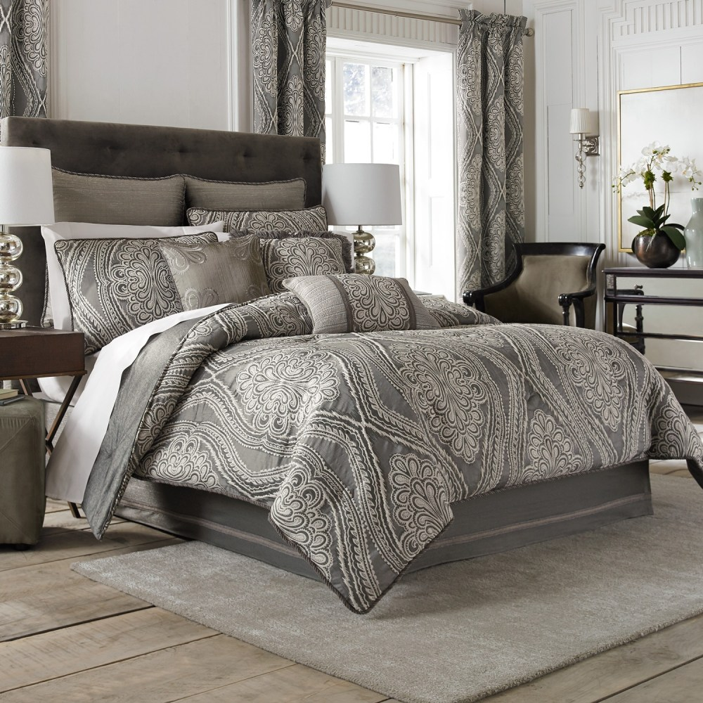 White And Grey Comforter Sets