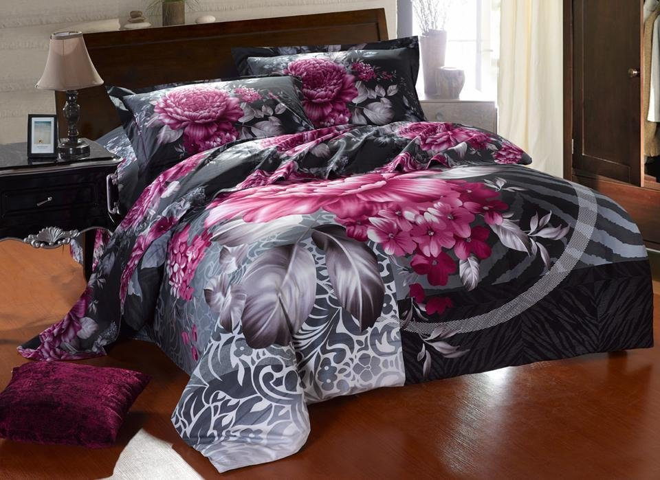 White And Purple Comforter Sets
