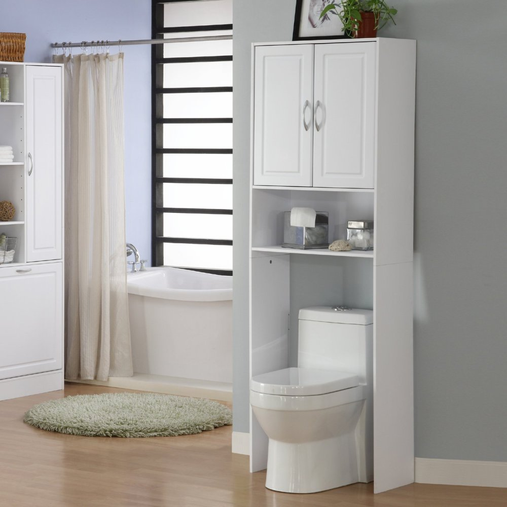 White Bathroom Cabinet Over Toilet