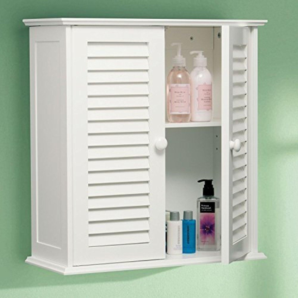 White Bathroom Cabinet Wall Mounted