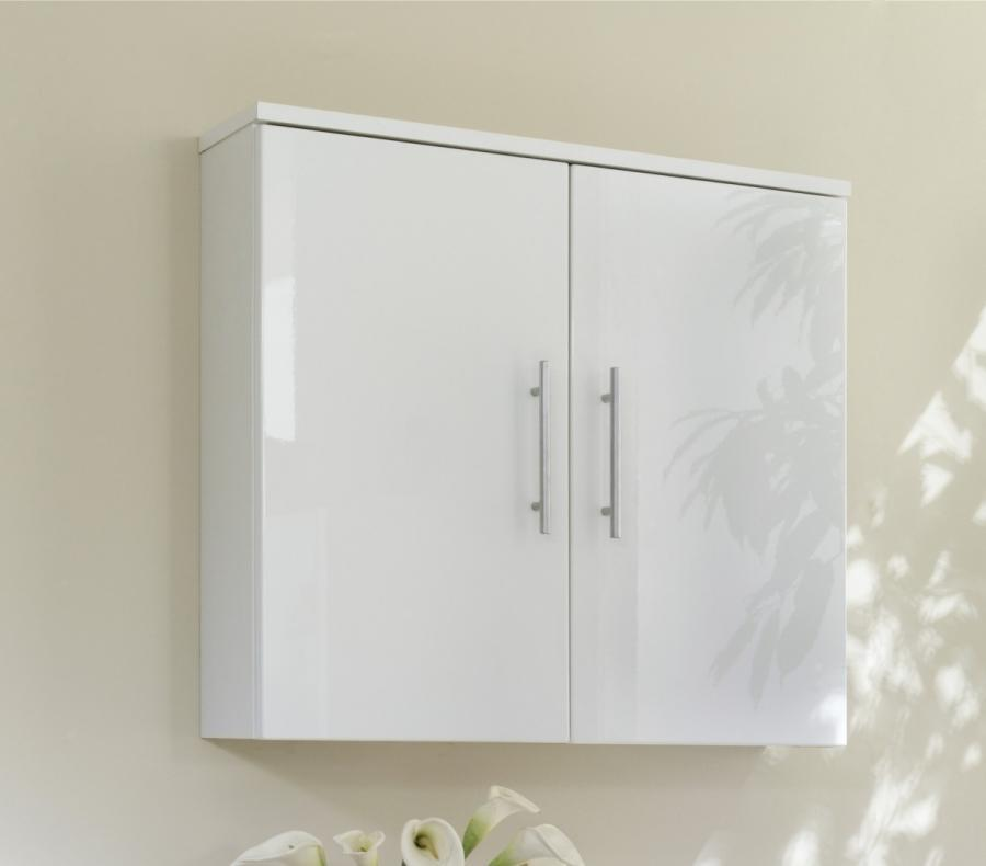 White Bathroom Cabinet Wall