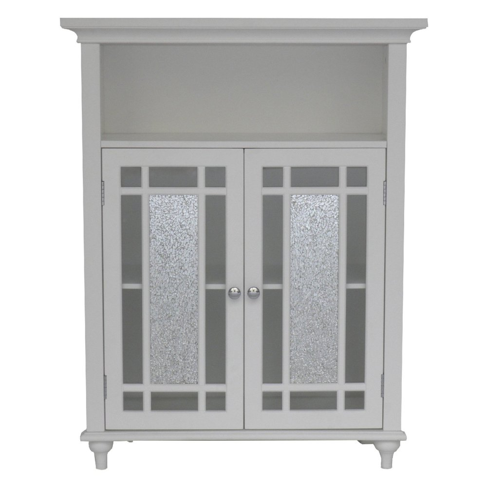 White Bathroom Floor Cabinet