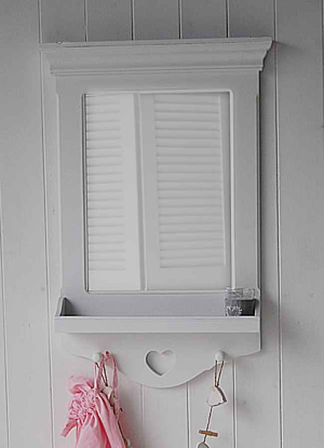 White Bathroom Mirror With Shelf