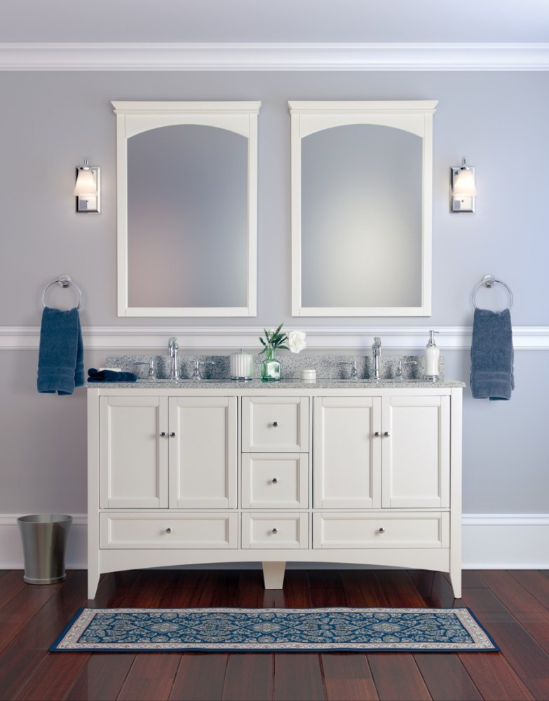 White Bathroom Vanity Mirrors