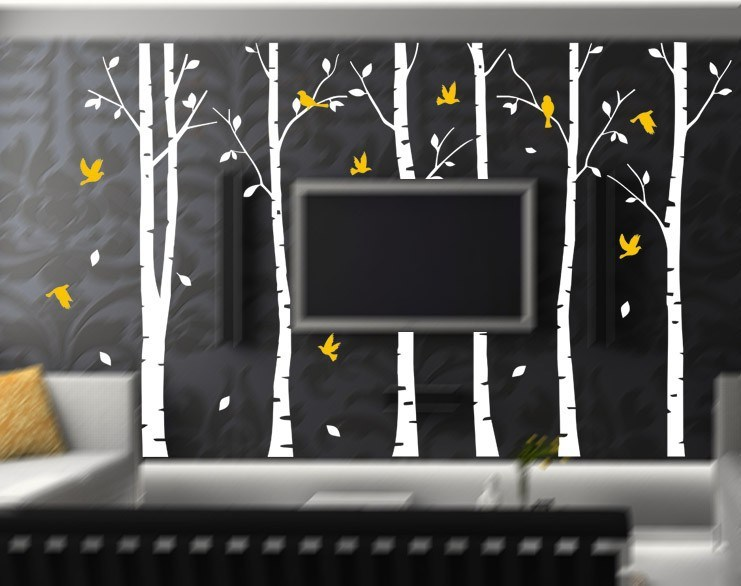 White Birch Tree Wall Decals