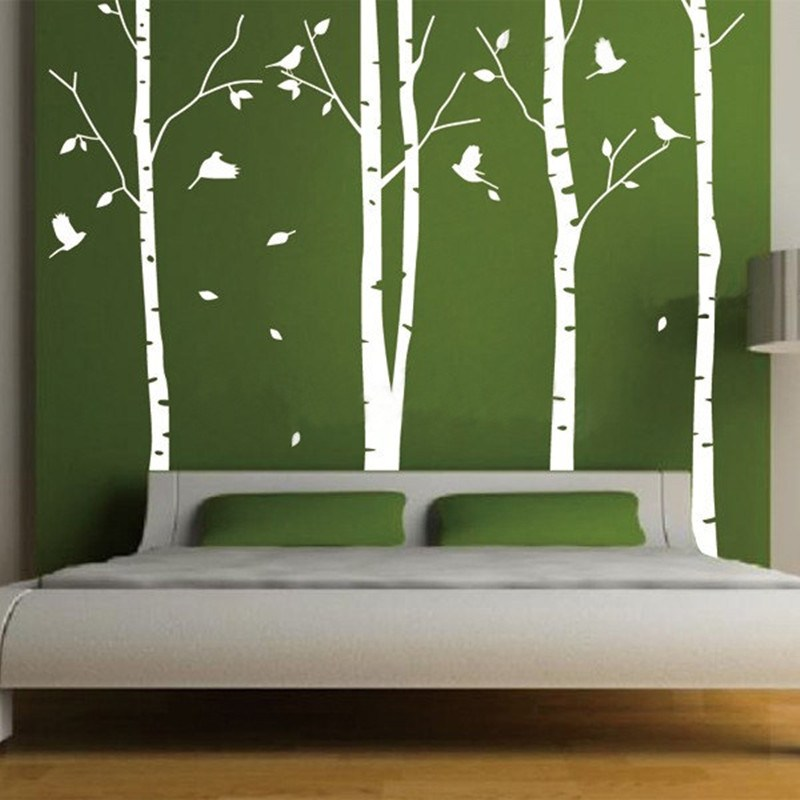 White Birch Wall Decals