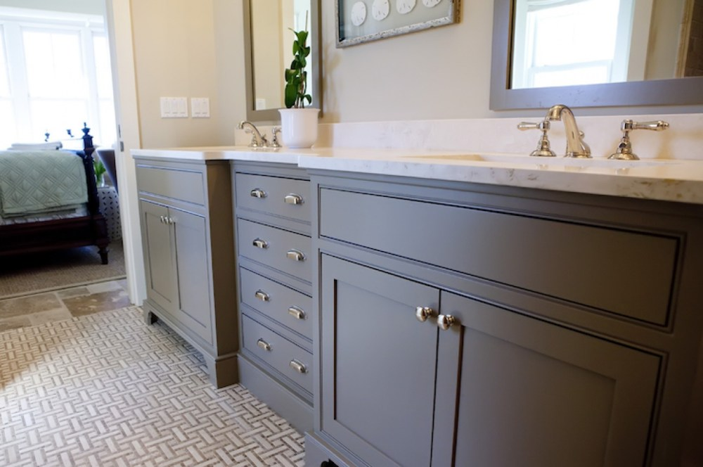 White Cabinet Bathrooms