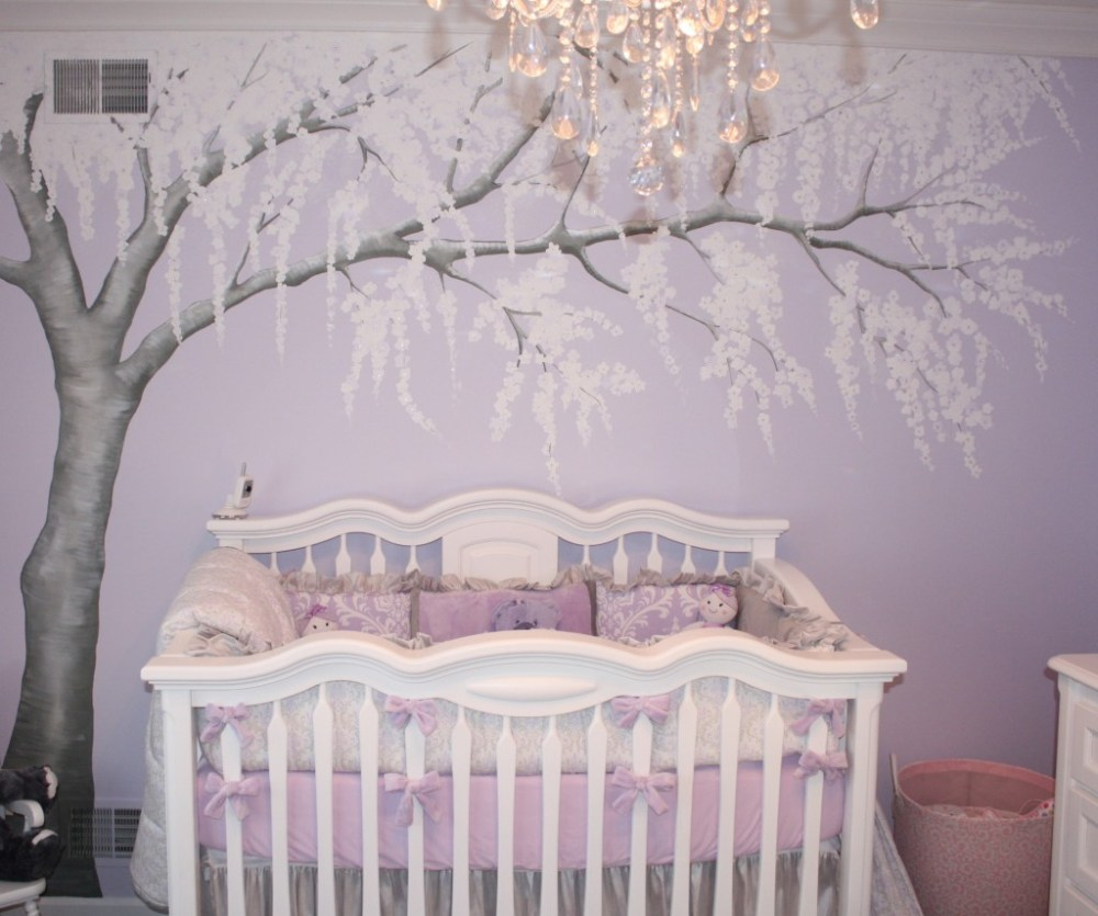 White Cherry Blossom Tree Wall Decal