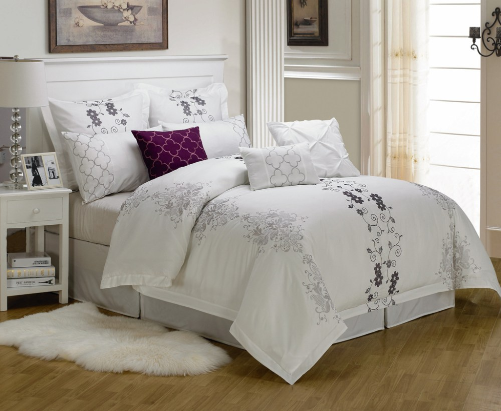 White Comforter King Set