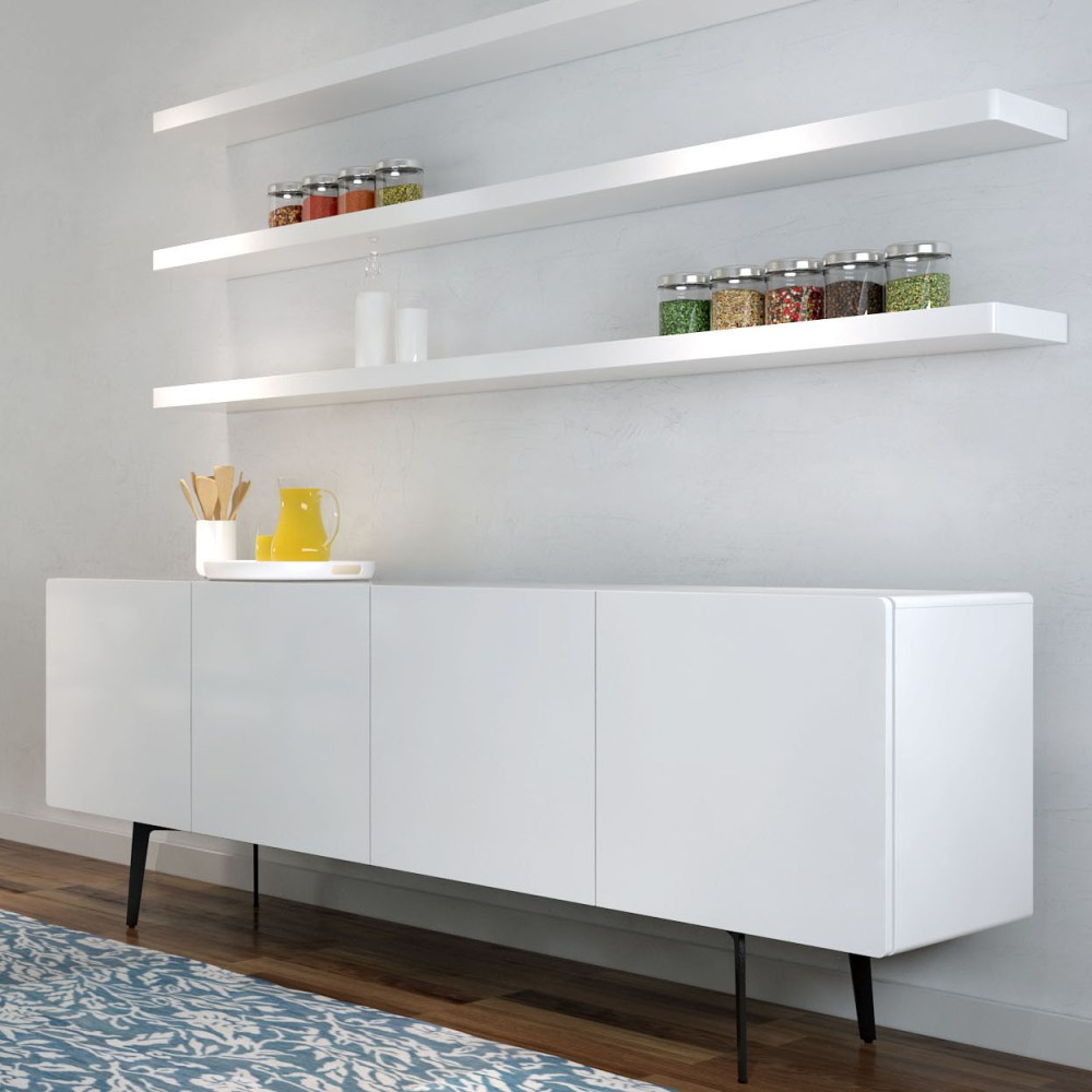 White Floating Shelves