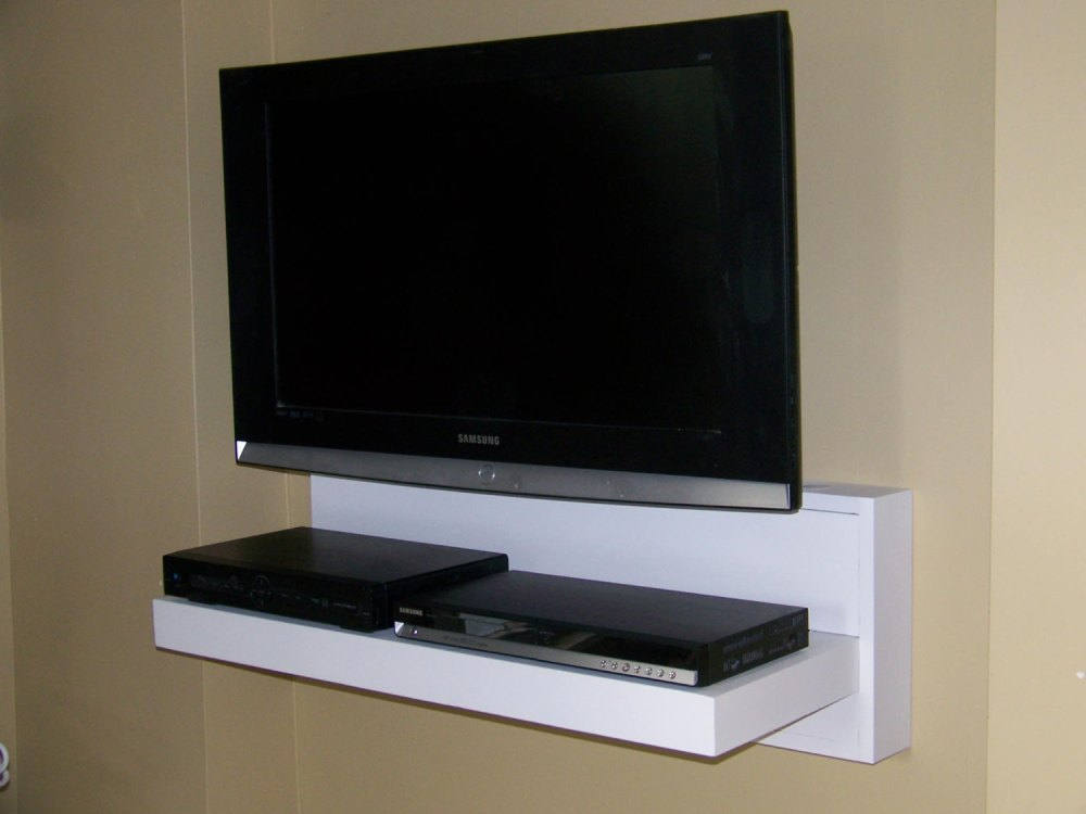 White Floating Tv Shelves