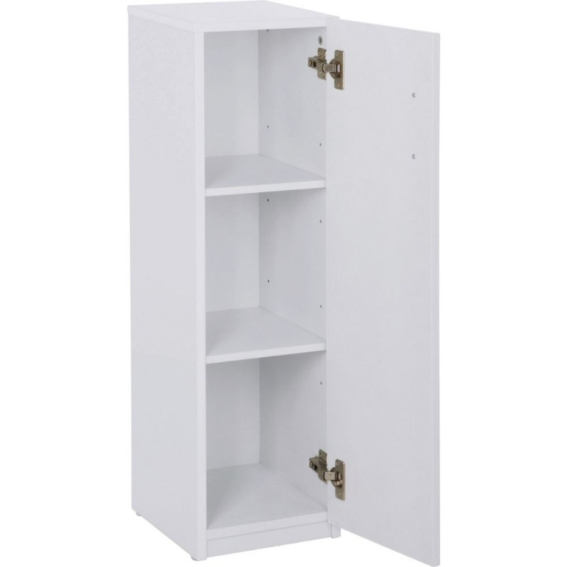 White Gloss Bathroom Floor Cabinet