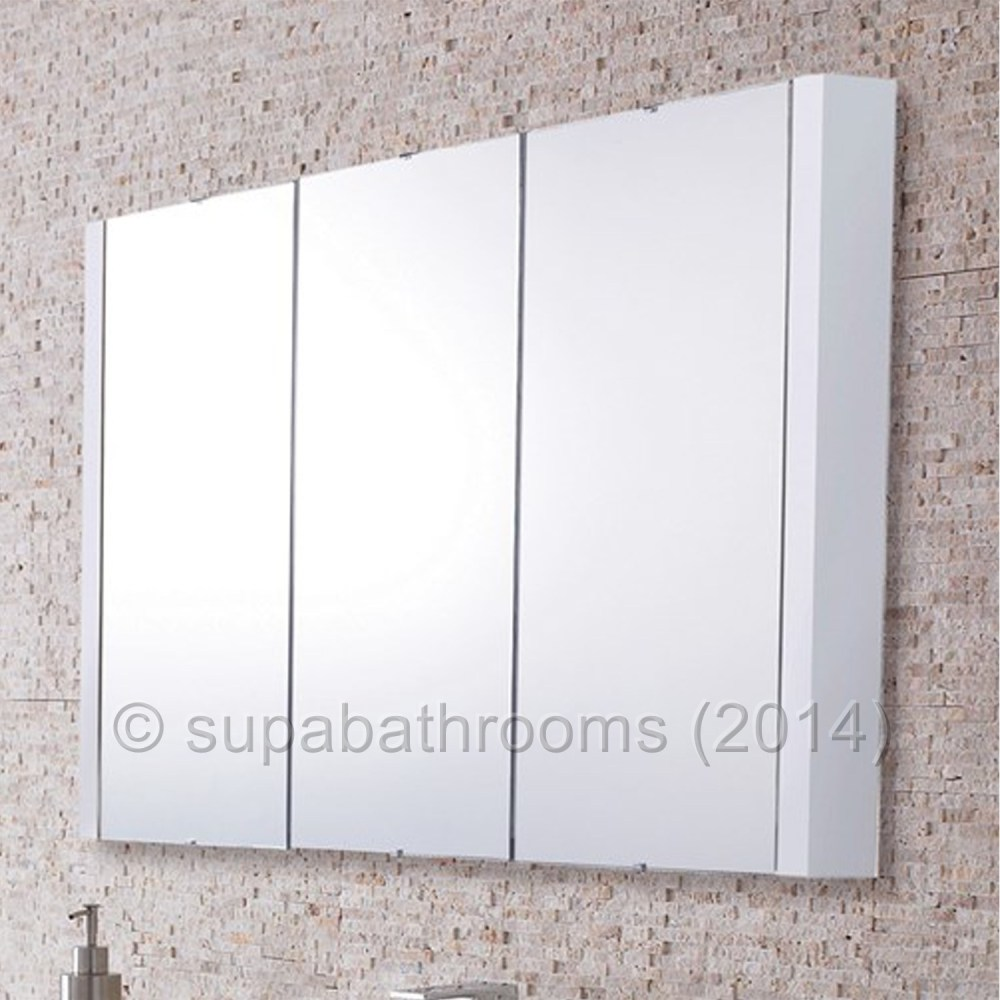 White Gloss Mirror Bathroom Cabinet
