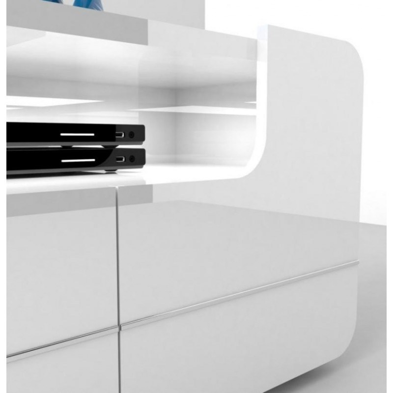 White Gloss Tv Stand With Lights