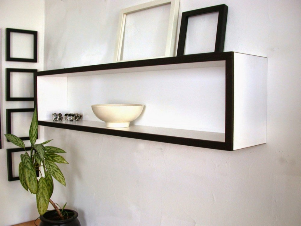 White High Gloss Floating Shelves