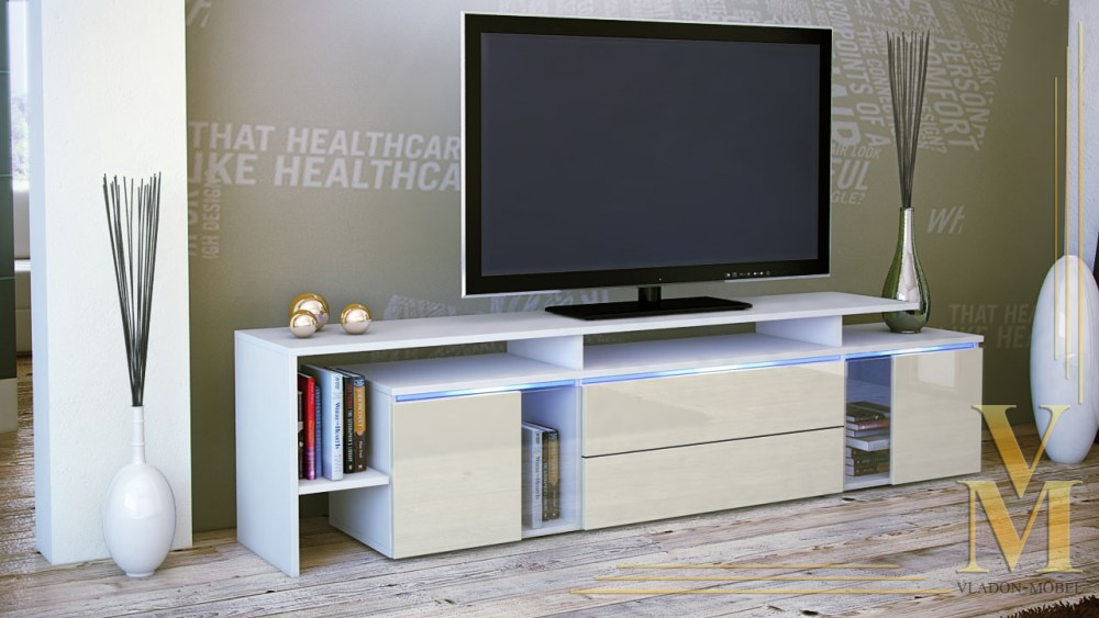 White High Gloss Tv Stand Ebay