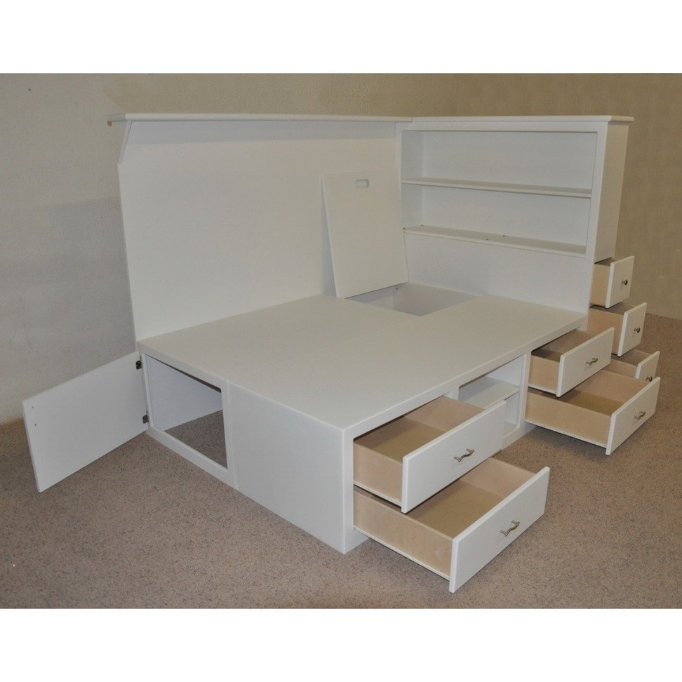 White Kids Storage Bed