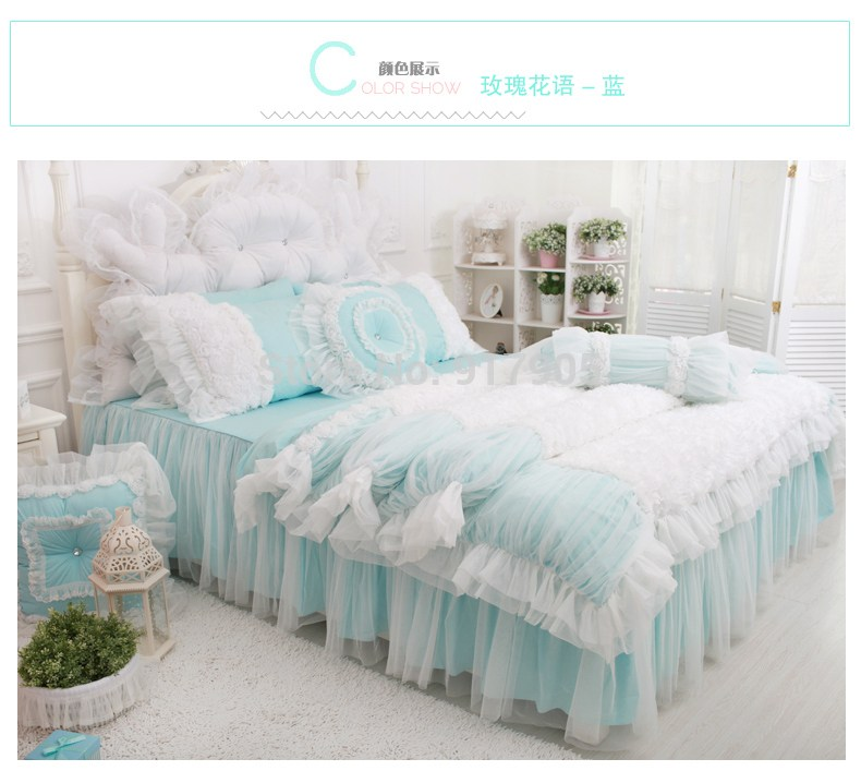 White Lace Comforter Sets