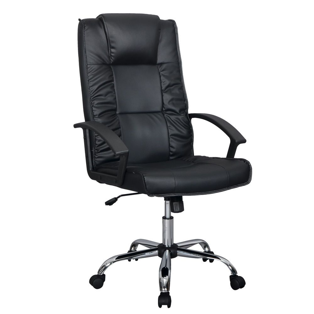 White Leather Office Chair Walmart