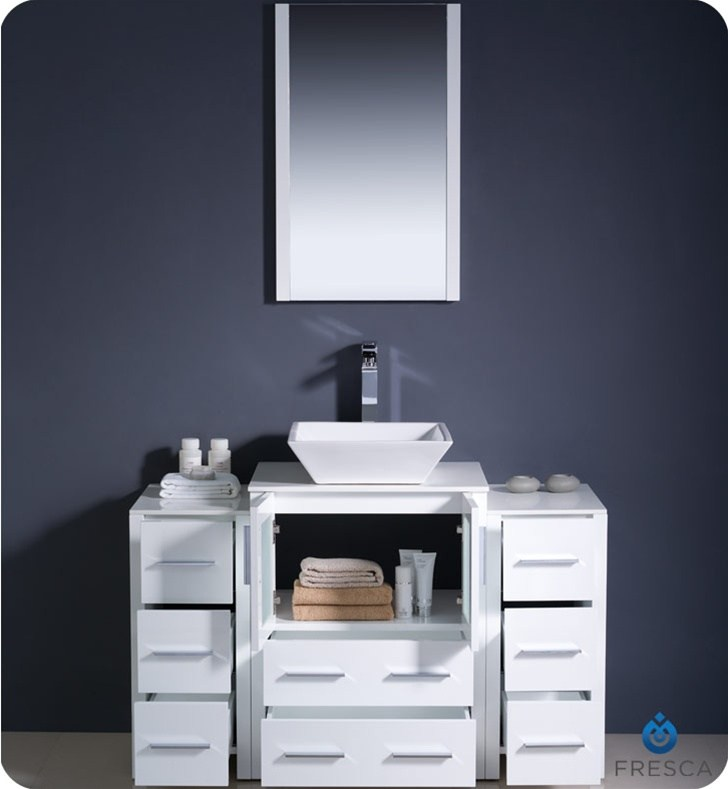 White Modern Bathroom Cabinets