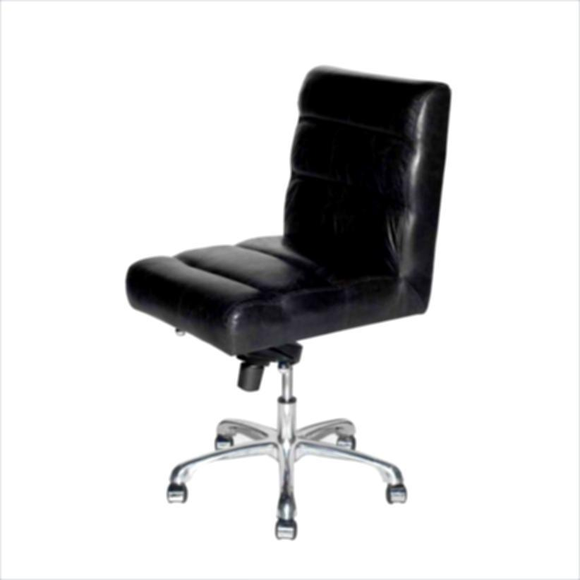 White Office Chair No Wheels