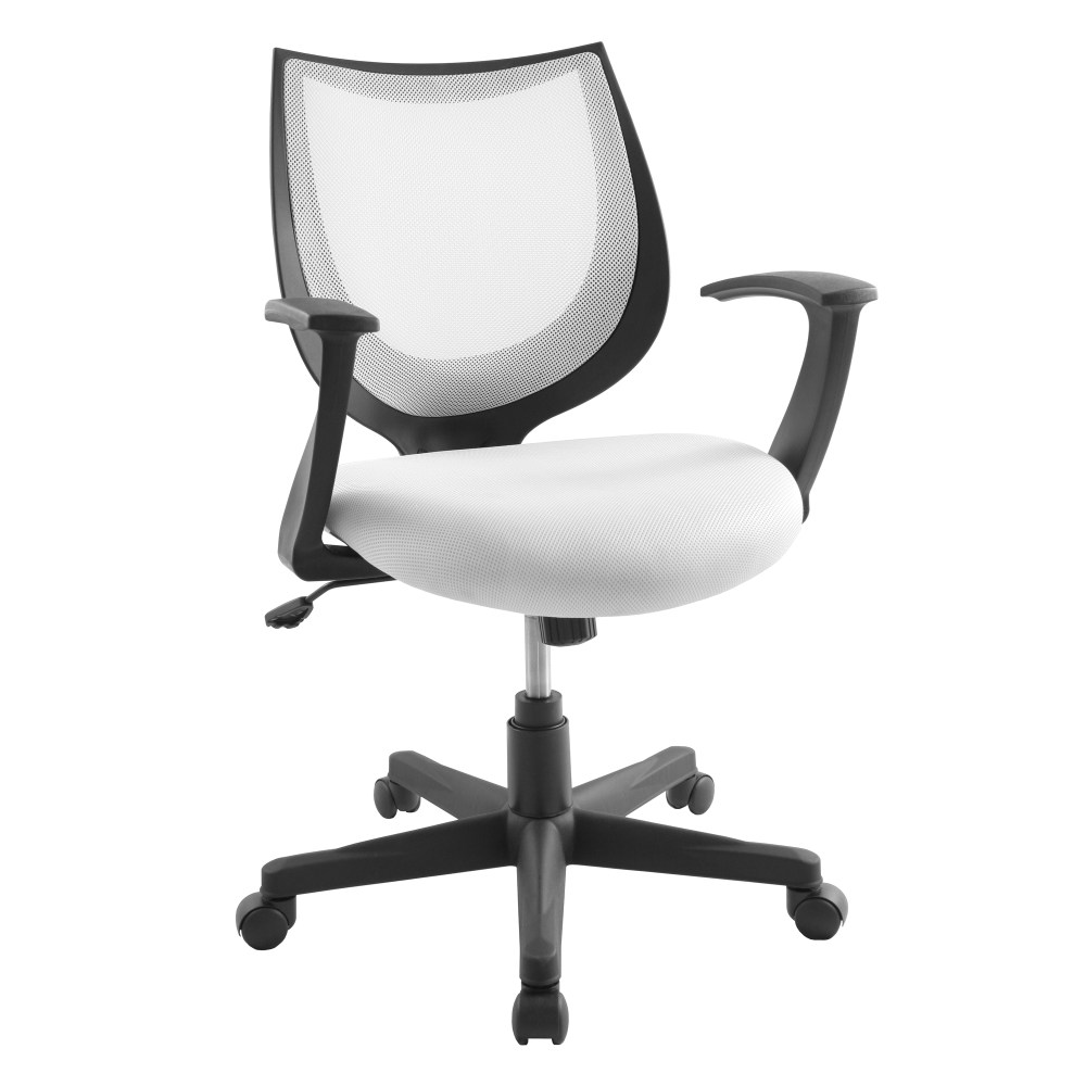 White Office Chair Without Arms