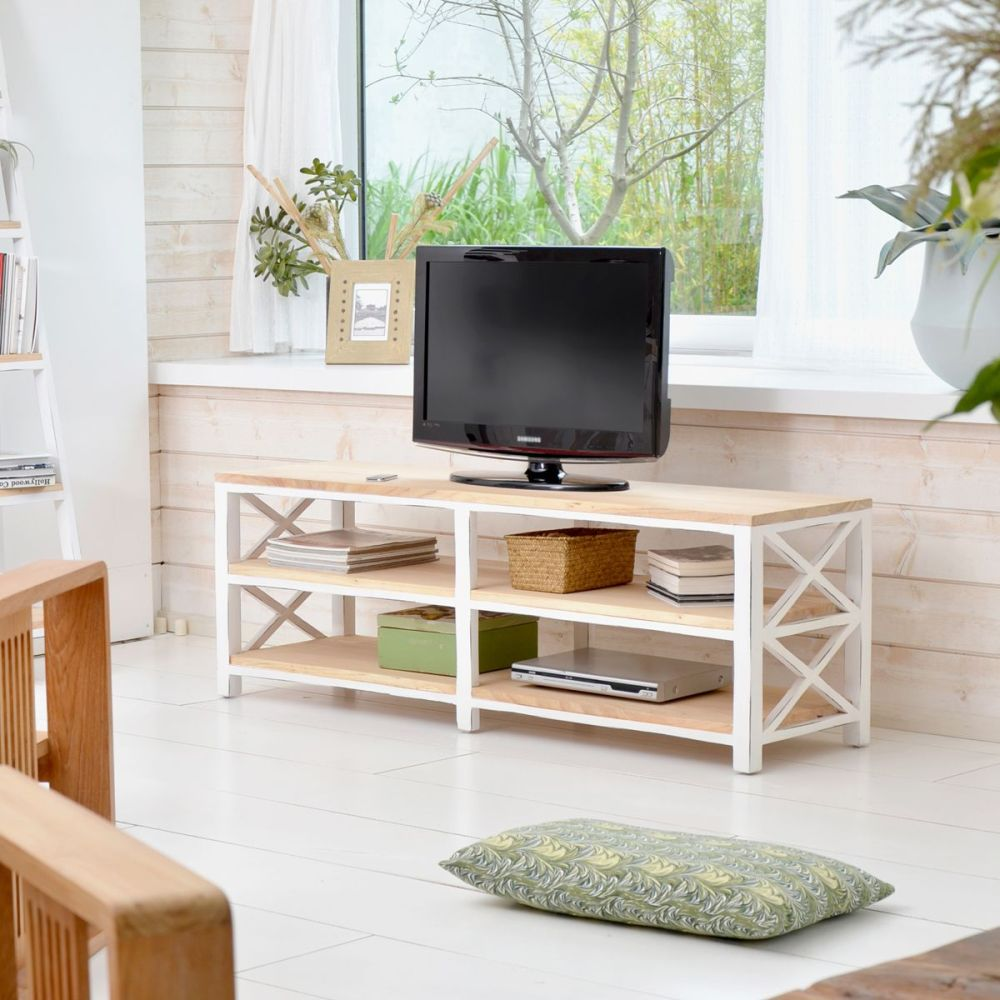 White Painted Tv Stand