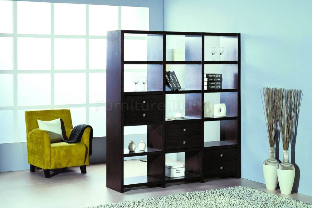 White Room Divider Bookcase