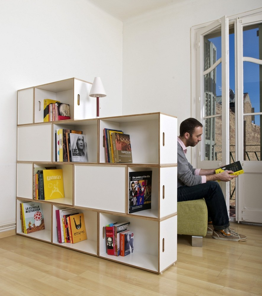 White Room Divider Shelves