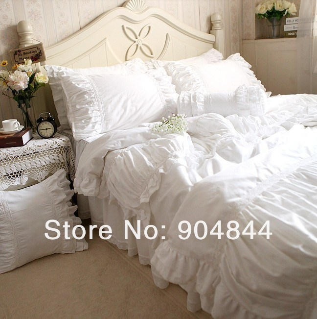 White Ruffle Comforter Sets