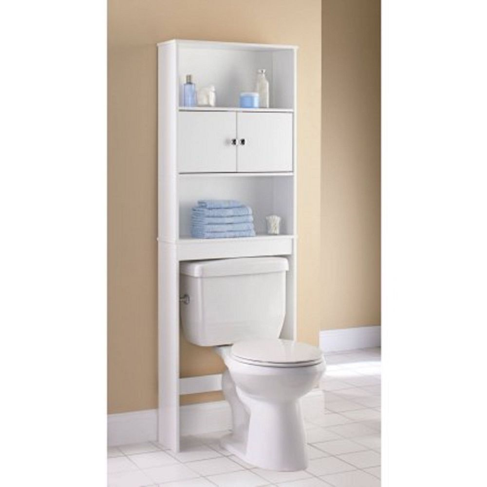 White Space Saver Bathroom Cabinet