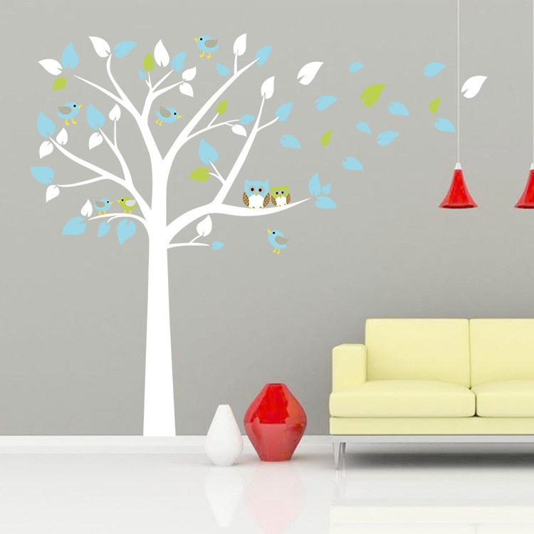White Tree Decal For Nursery Wall