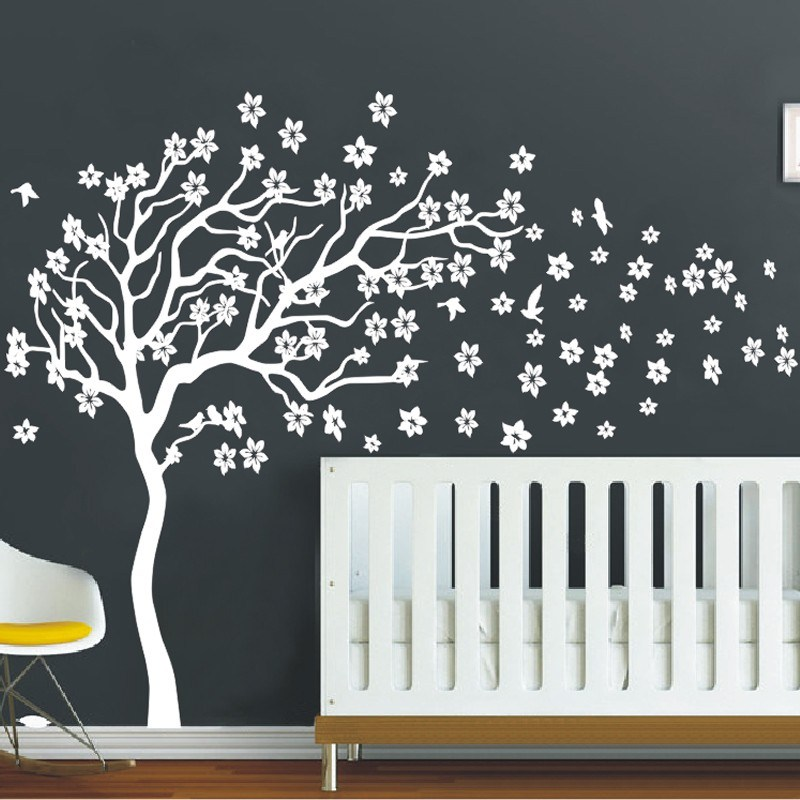 White Tree Decal For Wall