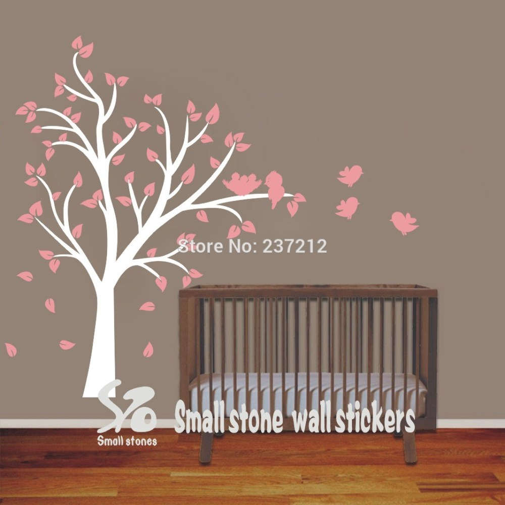White Tree Wall Decal For Nursery