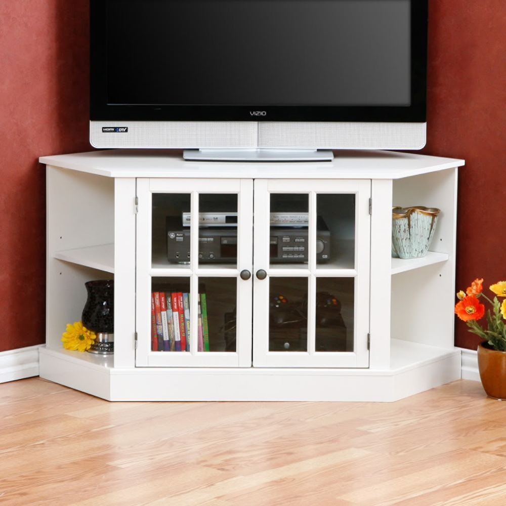 White Tv Entertainment Stand