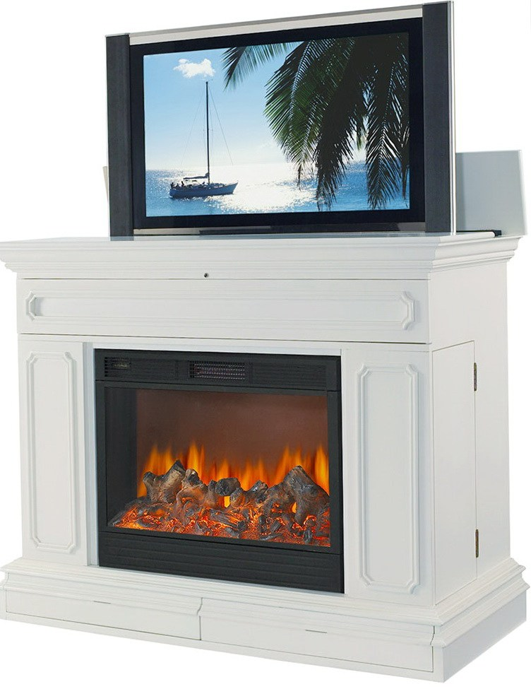 White Tv Stand With Electric Fireplace