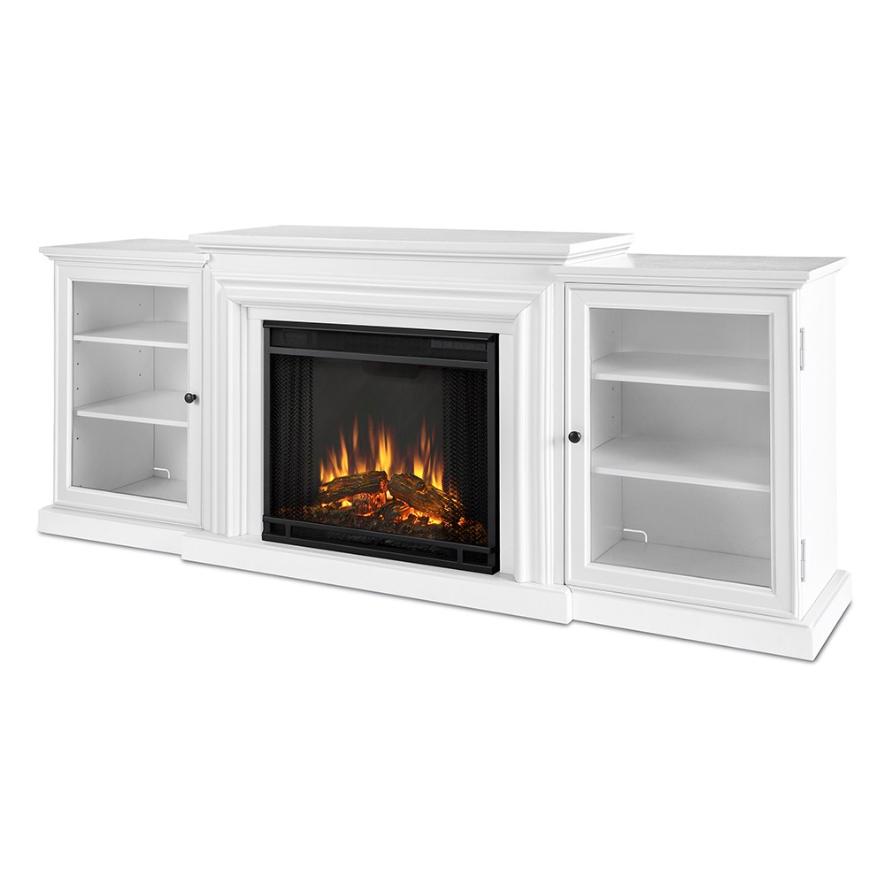 White Tv Stand With Fireplace