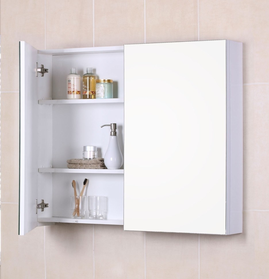 White Wall Cabinet For Bathroom