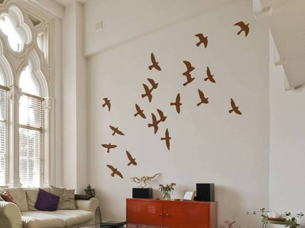 White Wall Decals For Living Room