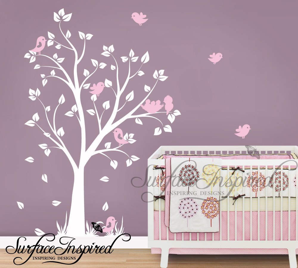 White Wall Decals For Nursery