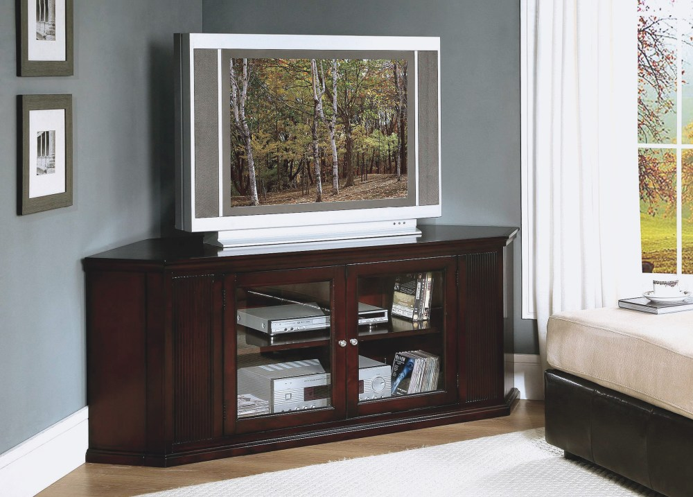 White Wood Corner Tv Stand