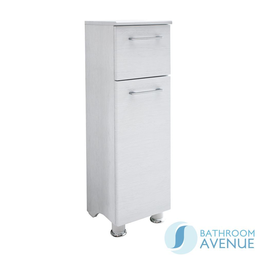 White Wood Freestanding Bathroom Storage Cabinet Unit