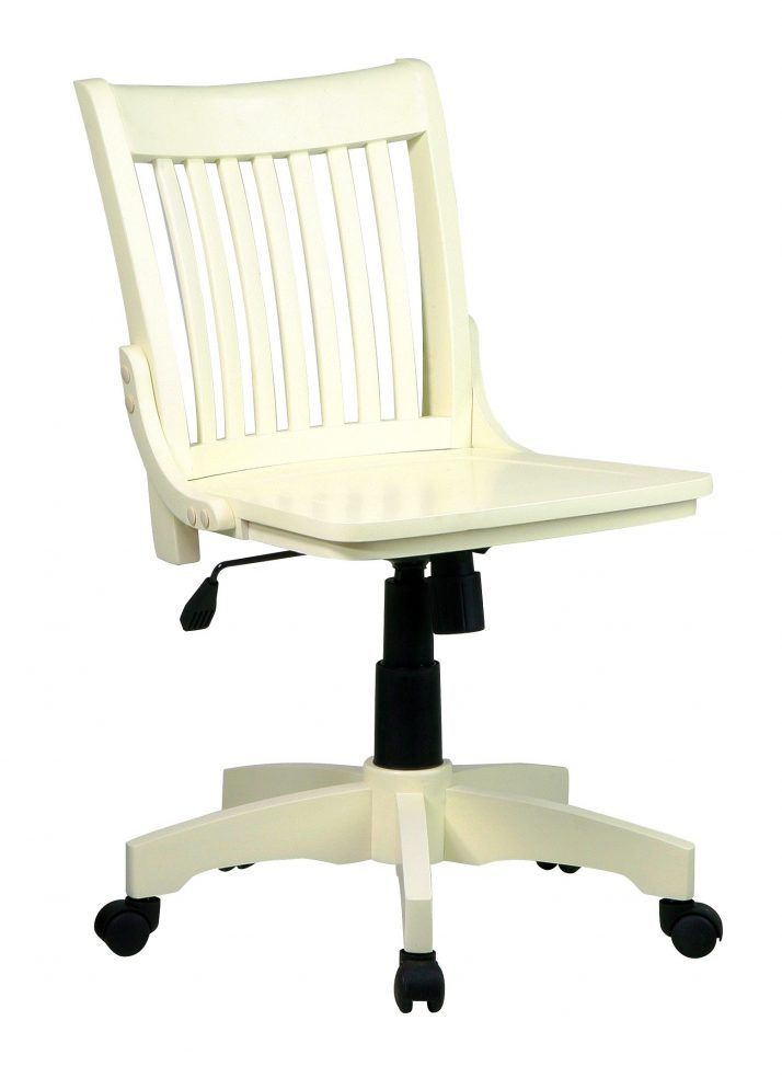 White Wood Office Chair