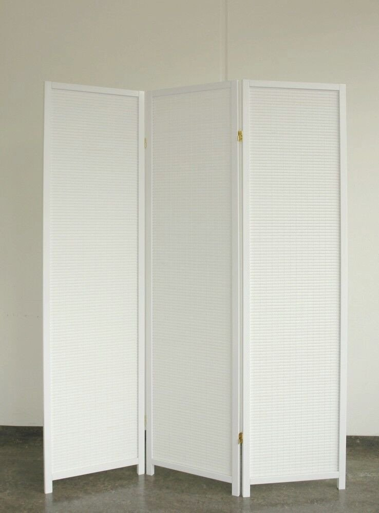 White Wood Room Divider