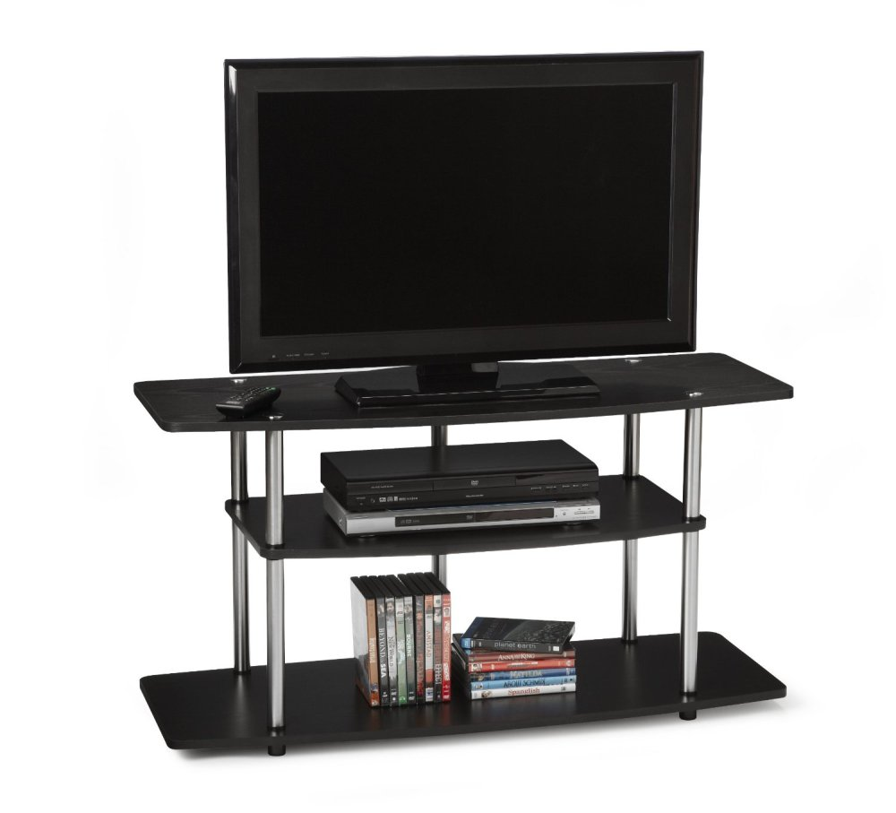 Wide Tv Stand Black