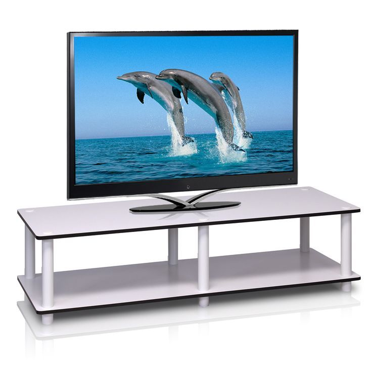 Wide Tv Stand White