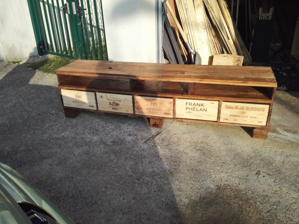 Wine Crate Tv Stand