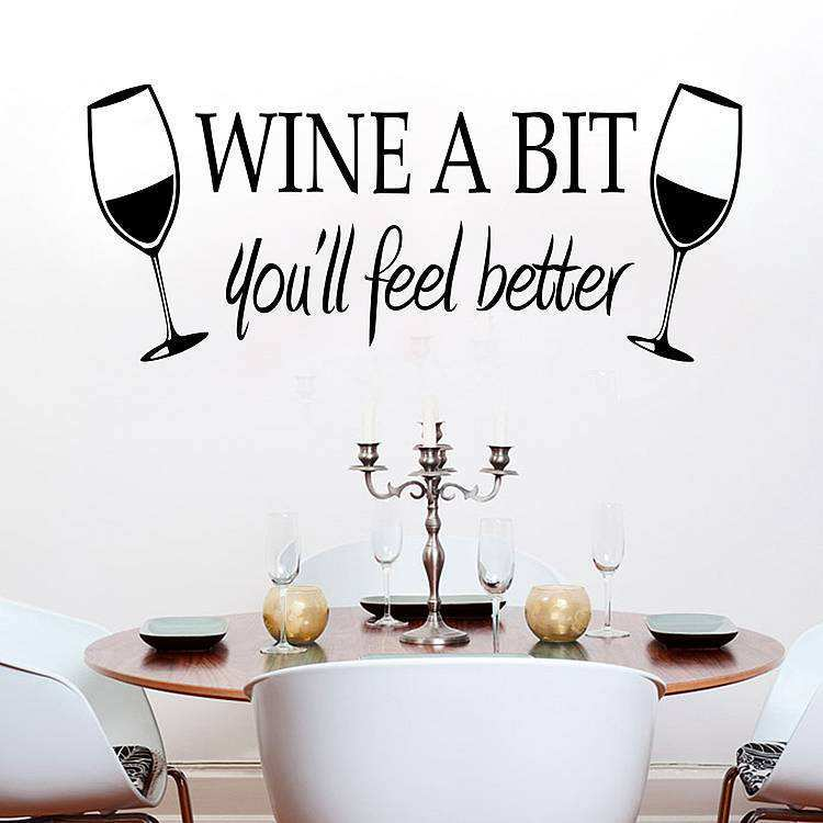 Wine Wall Decals Quotes