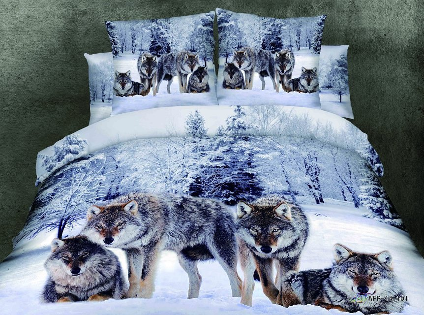 Wolf Comforter Sets