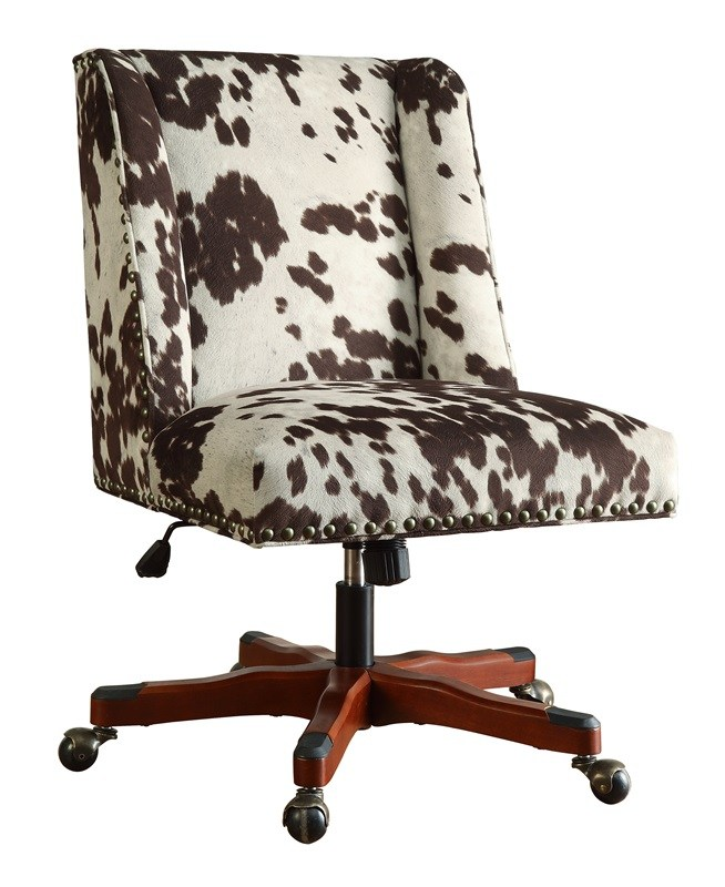 Wood And Fabric Office Chairs